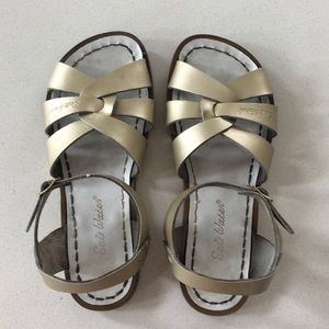 Gold Salt Water sandals 7 US